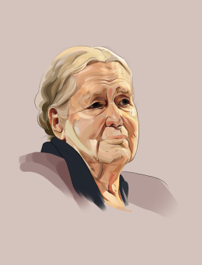 Doris Lessing portrait by Lyndsey Young